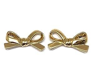 "kate spade new york""Skinny Mini"" Gold-Tone Bow Stud Earrings"