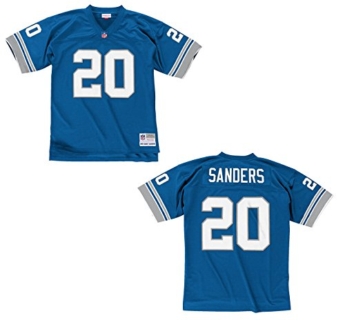 Mitchell & Ness Barry Sanders Detroit Lions Light Blue Throwback Jersey Large