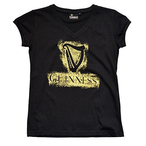 (Guinness Black Harp V-Neck Ladies T-Shirt)