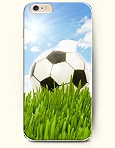 SevenArc Phone Case for iPhone 6 Plus 5.5 Inches with the Design of White Cloud Gentle Sunshine and Soccer in the...