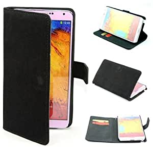 Cerhinu Squirrel Wallet Leather Flip Case Cover for Samsung Galaxy Note 3 III N9000 / N9005 Black + 1 Gift