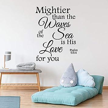 Tatuajes de pared Salmo 93 4 Más poderoso que las olas del mar ...