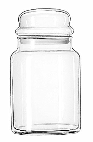 Libbey 70997 Storage Jar with Lid (Set of 12), Clear (Bulk Candy Jars)