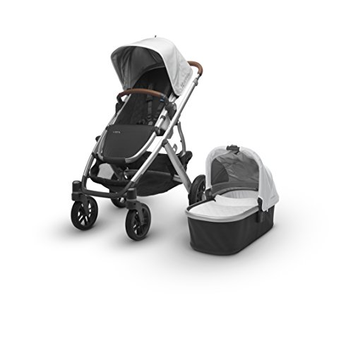 2018 UPPAbaby Vista Stroller - Loic (White/Silver/Saddle Leather)