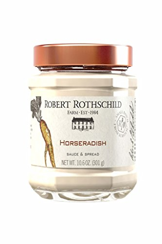 Robert Rothschild Farm Horseradish Sauce (10.6 oz) - Sauce & Dip - Sandwich Condiment - Roast Beef or Seafood Sauce - Vegetable Dip