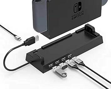ElecGear Dock de Hub USB Compatible con Nintendo Switch Base ...