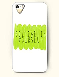 iPhone 5 5S Case OOFIT Phone Hard Case ** NEW ** Case with Design Believe In Yourself - Spiritual Inspiration - Case for Apple iPhone 5/5s