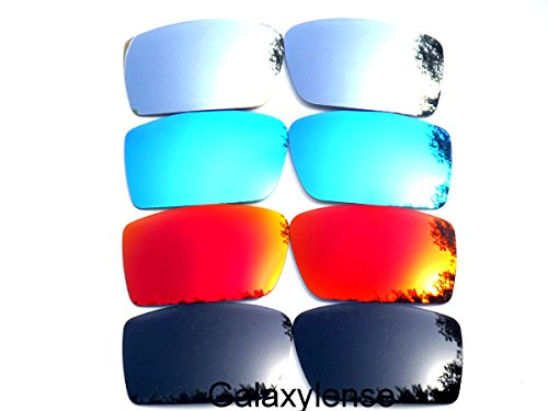 Galaxy Replacement Lenses for Oakley Gascan Black&Red&Blue&Titanium Color Polarized 4 Pairs,FREE - S Lenses Gascan