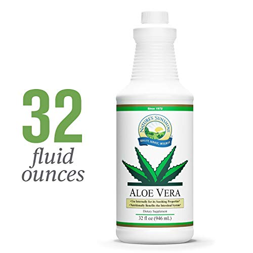 Nature's Sunshine Aloe Vera Juice, 32 fl. oz. | Specially Processed Aloe to Avoid The Loss of Essential Vitamins, Support The Digestive Tract, and Nourish The Skin