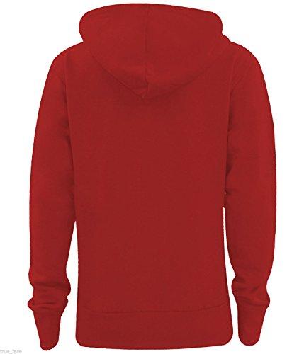 True Face - Sudadera con capucha - Manga Larga - para mujer Rosso