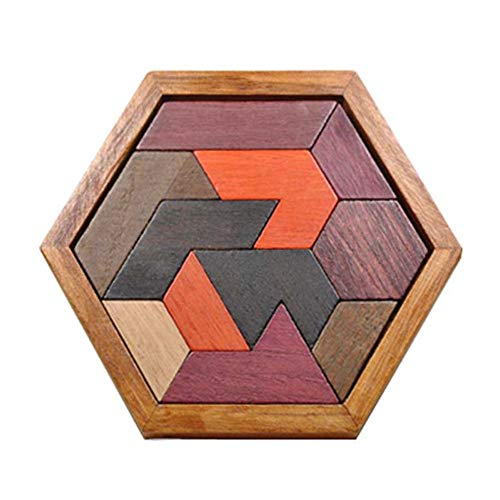 Belegend Wooden IQ Game Jigsaw Intelligent Tangram Teaser Puzzle Baby Kid Educational Toy