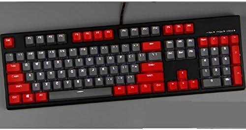 Six6 Gris Rojo 87/104 Teclas del Teclado Mecánico De Dos ...