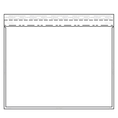9'' x 12'' Horizontal Catalog Envelope Crystal Clear, Permanent Tape (8.5″ x 11″ Insert Size) - Box of 500 by EnvyPak