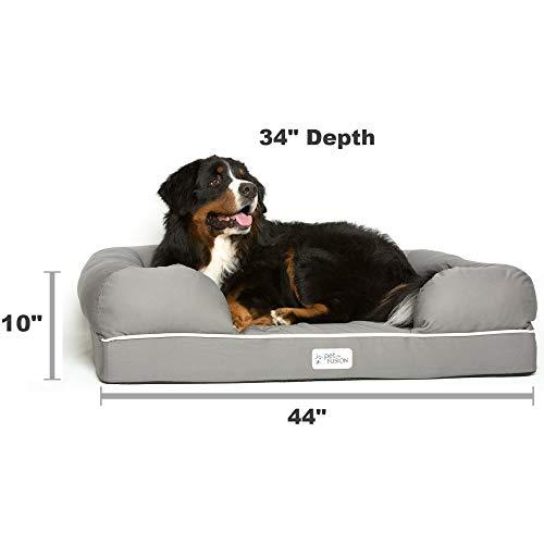 Cama De Espuma Viscoelastica Para Perros Medianos Y Grandes Gris Slate Grey X Large Bed 112 X 86 X 25 Cm
