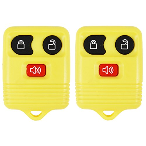 2 Yellow- QualityKeylessPlus Remote Replacement 3 Button Keyless Entry FCC ID: CWTWB1U331 FREE KEYTAG (Ford F150 Interior Parts compare prices)