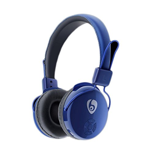 GBSELL Wireless Bluetooth Stereo Headset Earphone Headphone with Micro SD Card FM Blue