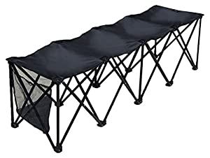 BenefitUSA Sports Sideline Bench 3/4/8 Seater Portable Folding Team Sports Bench Sits Outdoor Waterproof from BenefitUSA