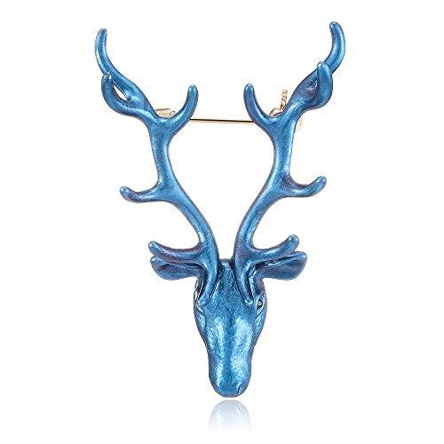 - Mytys Christmas Brooch Deer Elk Head Animal Brooch Pin Gift for Women Girl Kid
