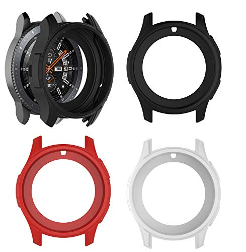 DingTool Compatible Samsung Galaxy Watch 46mm& S3 Frontier Band Cover, Soft Protection Silicone Band Case Cover for Galaxy Watch 46mm (Color1-3pcs-46mm)