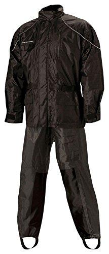 Nelson Rigg Unisex Adult AS-3000-BLK-06-3XL Aston Motorcycle Rain Suit 2-Piece, (Black, XXX-Large), X