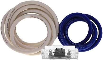 CT Sounds 0 AWG GA Gauge Big 3 Complete Fused Blue CCA Wire Wiring Kit