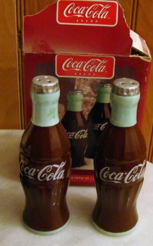 Coca-Cola Coke Contour Bottles Salt and Pepper Shaker Set #4116602