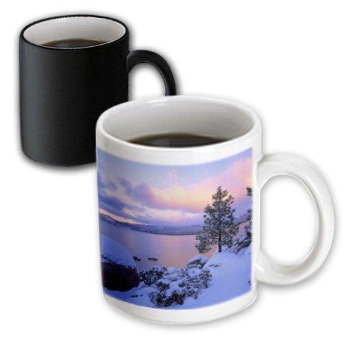 3dRose California, A winter Day at Lake Tahoe, Magic Transforming Mug, - Outlets Lake Tahoe