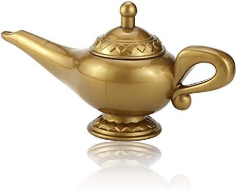Gold Aladdin Genie Costume Lamp