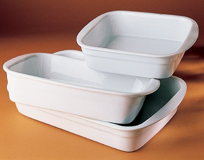Pillivuyt Porcelain Heavy-Duty Large 14-by-9-1/2-Inch Lasagne Baker
