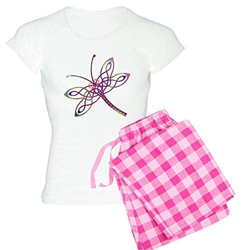 CafePress Celtic Dragonfly Pajamas - Womens Novelty Cotton Pajama Set, Comfortable PJ Sleepwear