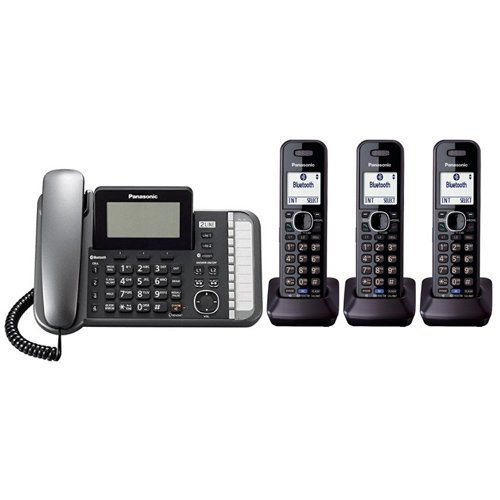 Panasonic KX-TG9582B + 1 KX-TGA950B Corded/Cordless Combination Telephone 2-Line DECT 6.0 System by Panasonic (Image #4)