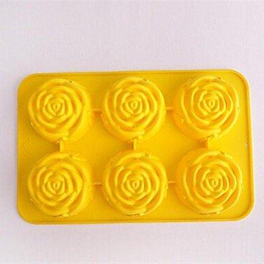 JW forma de la flor moldes para pasteles, silicona 23 × 19 × 7 cm