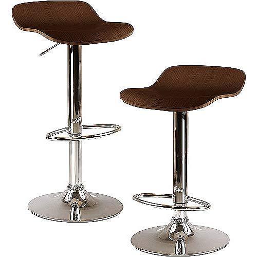 - OKSLO Kallie 2pc airlift stools, cappuccino swivel seat