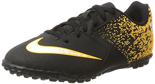 Nike Jr. bombax TF, Botas de Fútbol Unisex Bebé Negro (Black/White/Laser Orange)