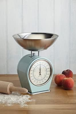 Kitchen Craft Vivir Nostalgia 1-Piece Living Nostalgia Mecánica balanza de cocina, Azul
