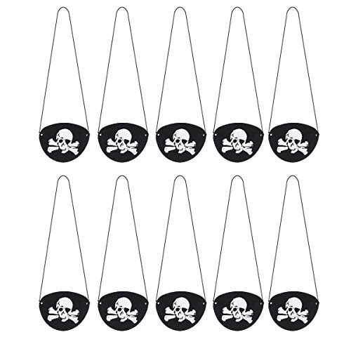 TOYANDONA 24pcs Pirate Eye Patch Skeleton Eye Patch Hallowmeen Pirate Accessories for Festival Party Cosplay -