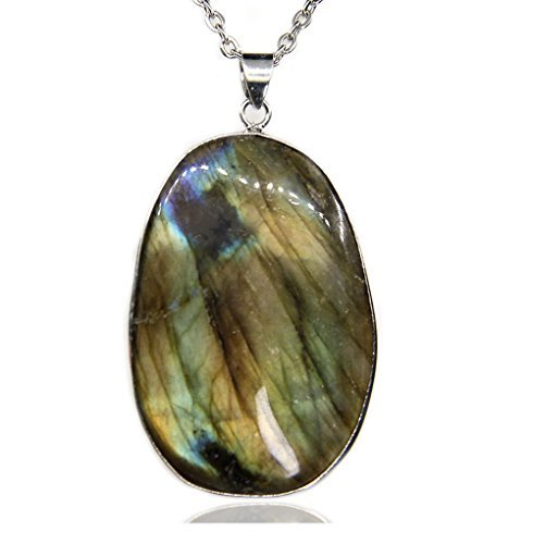 Used, Amandastone Gemstone Natural Labradorite Charm Pendant for sale  Delivered anywhere in Canada