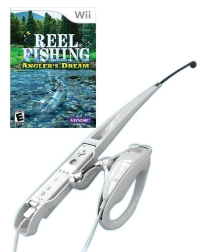 Wii reel fishing angler 39 s dream fishing rod bundle for Wii fishing rod
