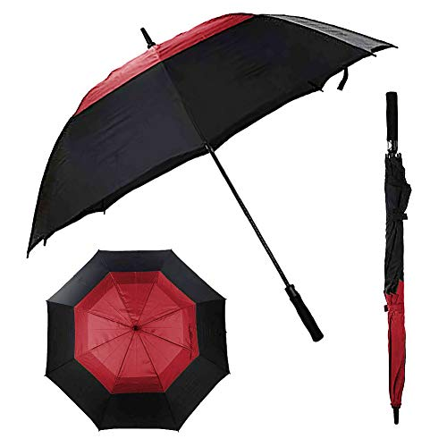 L'ABOUT Large Automatic Open Golf Umbrella | 68-Inch Windproof and Waterproof Stick Umbrella | Superior Strength, Unrivaled Protection from Rain, Wind and Sun | Includes Shoulder Carrying ()