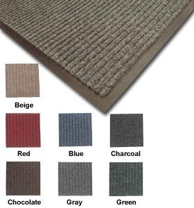 Quality Mat, Valustar Ribbed Entrance Mats - Full Rolls, Htr-6, Size: 6 X 60', Wt. (Lbs.): 360, Color: Charcoal, Tr-6