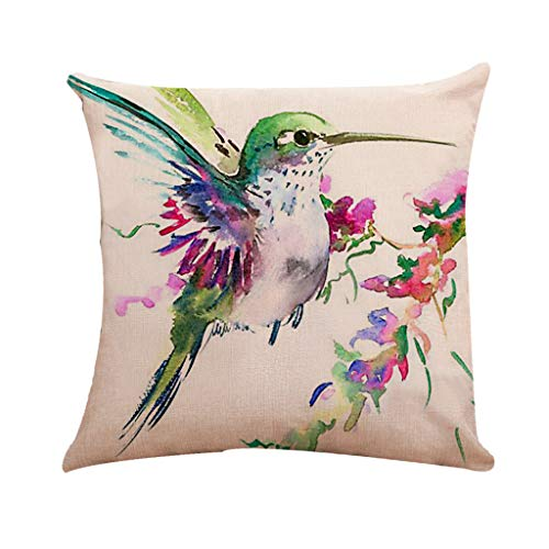 SportHome 1 Pcs Solid Color Birds Eagle Pattern Bed Decor Linen Square Decorative Throw Pillow Case Cushion Cover
