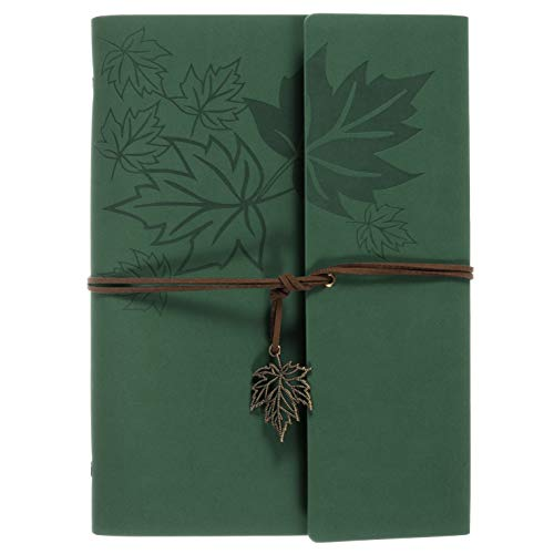 Leather Writing Journal Notebook, MALEDEN Classic Spiral Bound Notebook Refillable Diary Sketchbook Gifts with Unlined Travel Journals to Write in for Girls and Boys (Unlined Spiral Bound Journal)