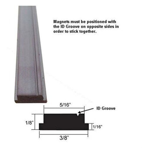 Learn More About Flexible Magnetic Insert Strip for Framed Shower Doors - 84 long