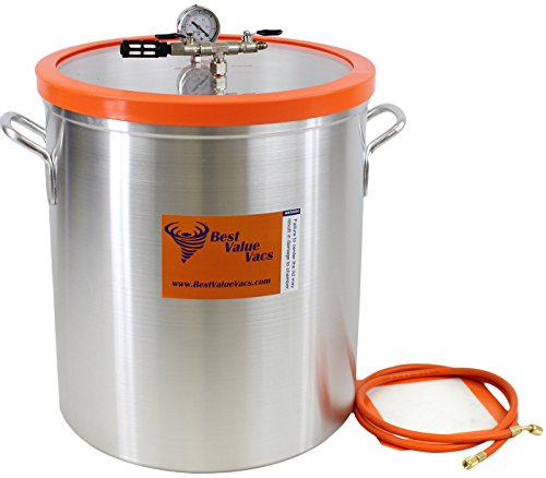 Vacuum Chamber by Best Value Vacs- 15 Gallon Aluminum Vacuum and Degassing Chamber (Assembled In USA, Includes domestic components) ()