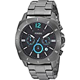 Fossil Men's Quartz Stainless-Steel Strap, Grey, 23.5 Casual Watch (Model: BQ2167IE)