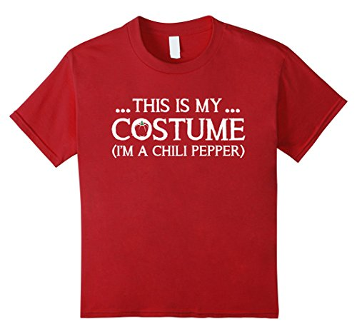 Chilli Pepper Costumes (Kids This is my Costume I'm a Chili Pepper Shirt vegetable fruits 8 Cranberry)