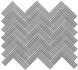 Emser Tile W80CHARGR1013MHB Charisma - 9-11/16'' x 13-1/16'' Herringbone Backsplash Mosaic Tile - Varied Glass Visual