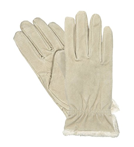 Isotoner Women's Microluxe Pigsplit Glove with Gathered W...