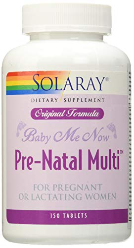 Solaray Baby Me Now Prenatal Multi Orig Form, 150 Count
