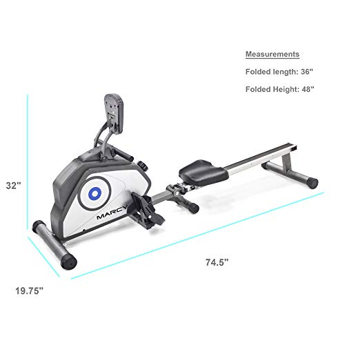 NS-40503RW Marcy folding rowing machine with transportable